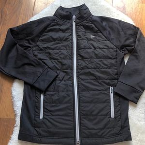 Old Navy boys black quilted front jacket L